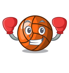 boxing volleyball character cartoon style vector image