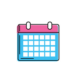 Calendar to organizar important events vector
