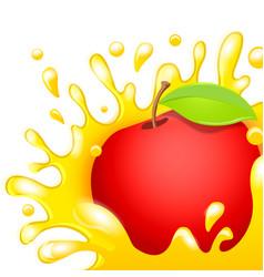 cartoon character fresh apple juice vector image
