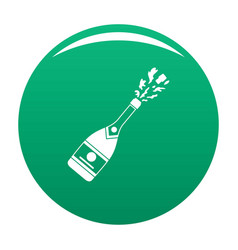 Champagneicon green vector