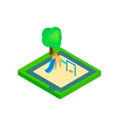 Childrens playground isometric 3d icon vector