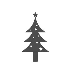 christmas tree icon flat vector image