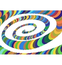 Colorful Abstract Spiral Converging to the Center vector