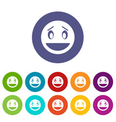 Confused emoticon set icons vector