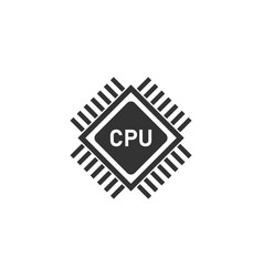 cpu icon flat vector image