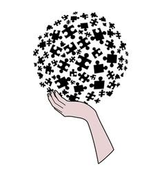Creative puzzle vector