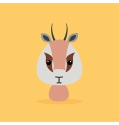 Cute cartoon wild gazelle vector