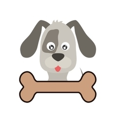 cute dog and bone vector image