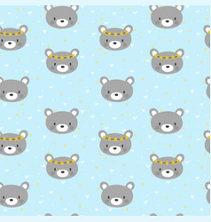 cute seamless pattern for little boys with funny vector image