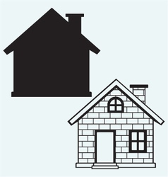 Detailed house icon vector