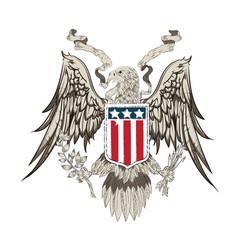 eagle flag icon united state flag vector image