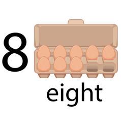 Eight egg in carton vector
