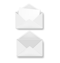 envelope collection white background vector image
