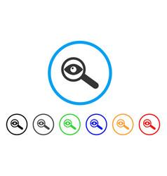 Examine eye rounded icon vector