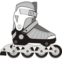 extreme sports roller skates vector image
