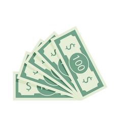 fan of banknotes one hundred dollars vector image