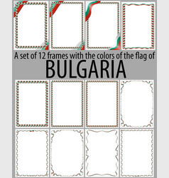 Flag v12 bulgaria vector