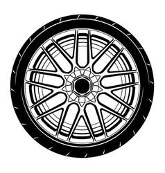 Flat car wheel 14 vector