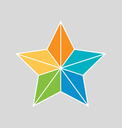 flat style retro star icon vector image