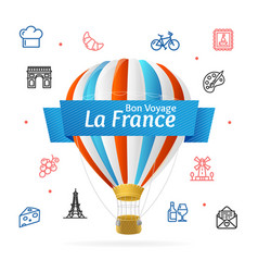 france design template line icon welcome concept vector image vector image