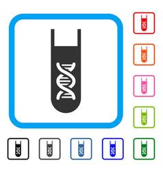 genetic analysis test-tube framed icon vector image