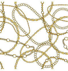 Gold chain hand drawn seamless pattern vector