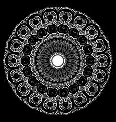 Greek floral round mandala pattern ornamental vector