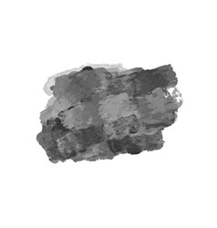 grunge style brush strokes isolated on white vector image