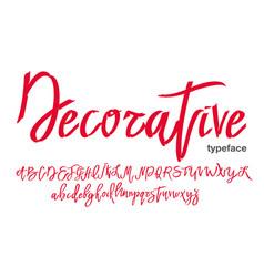 handwritten graffiti style font vector image