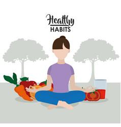 Healthy lifestyle habits vector