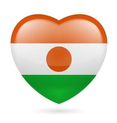 Heart icon of Niger vector