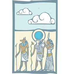 Hieroglyph Clouds vector image