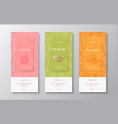 Home fragrance label templates set hand vector