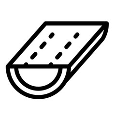 House gutter icon outline style vector