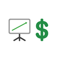 icon concept of sales chart arrow moving up with vector image