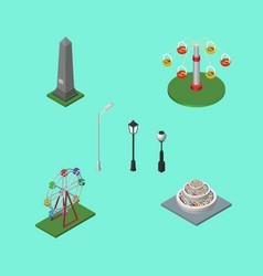 Isometric urban set of swing attraction vector