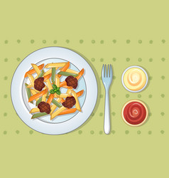 italian tasty pasta concept background cartoon vector image