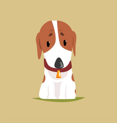 jack russell puppy character cute terrier vector image