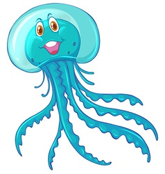 Jelly fish with happy face vector