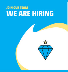 Join our team busienss company diamond we are vector