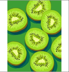 kiwis on green vector image