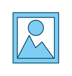 Landscape picture symbol vector