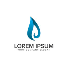 liquid water drop logo design concept template vector image