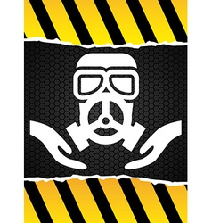 mask gas design vector image