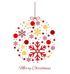 Merry Christmas color ball ornament vector image