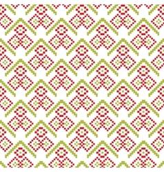 Merry Christmas seamless pattern pixel vector