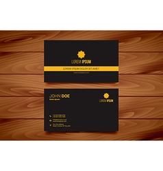 Minimal modern business card design vector