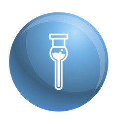 modern test tube icon simple style vector image