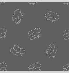 monochrome seamless rabbit pattern for easter vector image