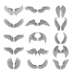 monochrome set of different stylized vector image vector image